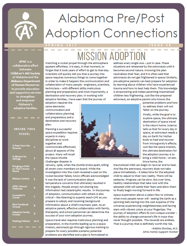 APAC Newsletter Spring 2017