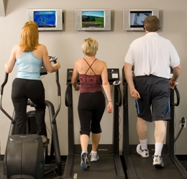 Personal Training Professionals clients on treadmills