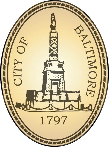 DP-1110 - Carved Plaque of the Seal of the City of Baltimore,Maryland,  Artist Painted