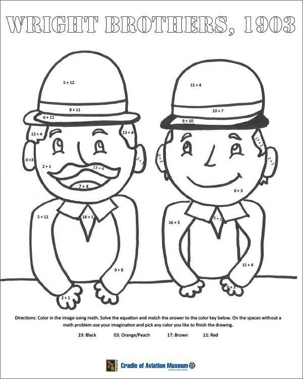 Wright Brothers Coloring Page