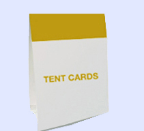 Table Top Tent Card