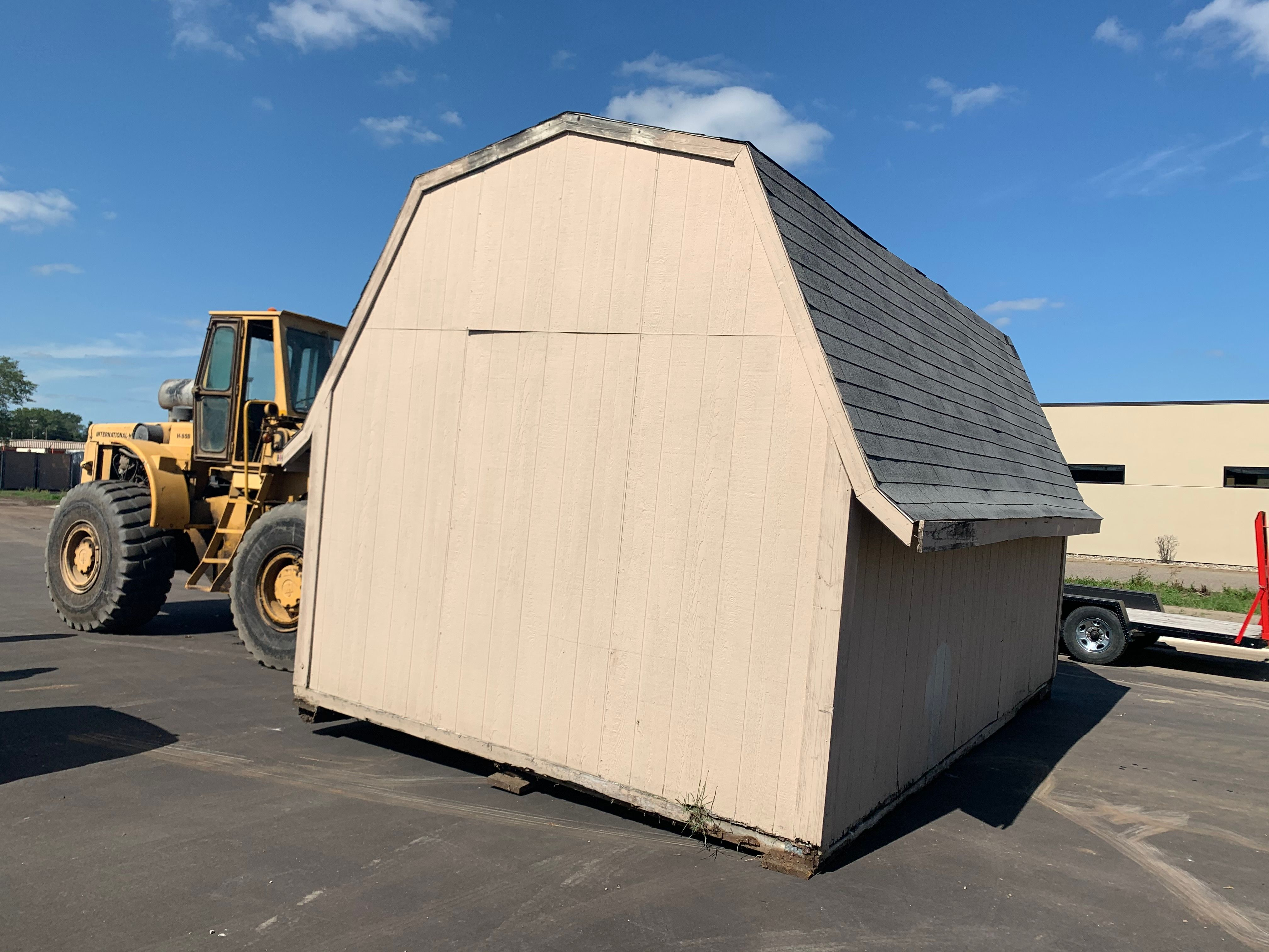 Sept. 10, 2020 - moving the shed