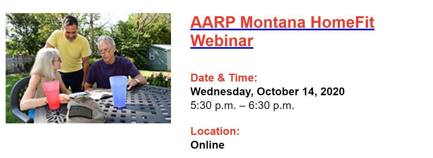AARP Montana HomeFit Webinar