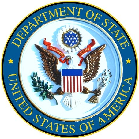 U30174 - Department of State Seal Carved 3D Wall Plaque