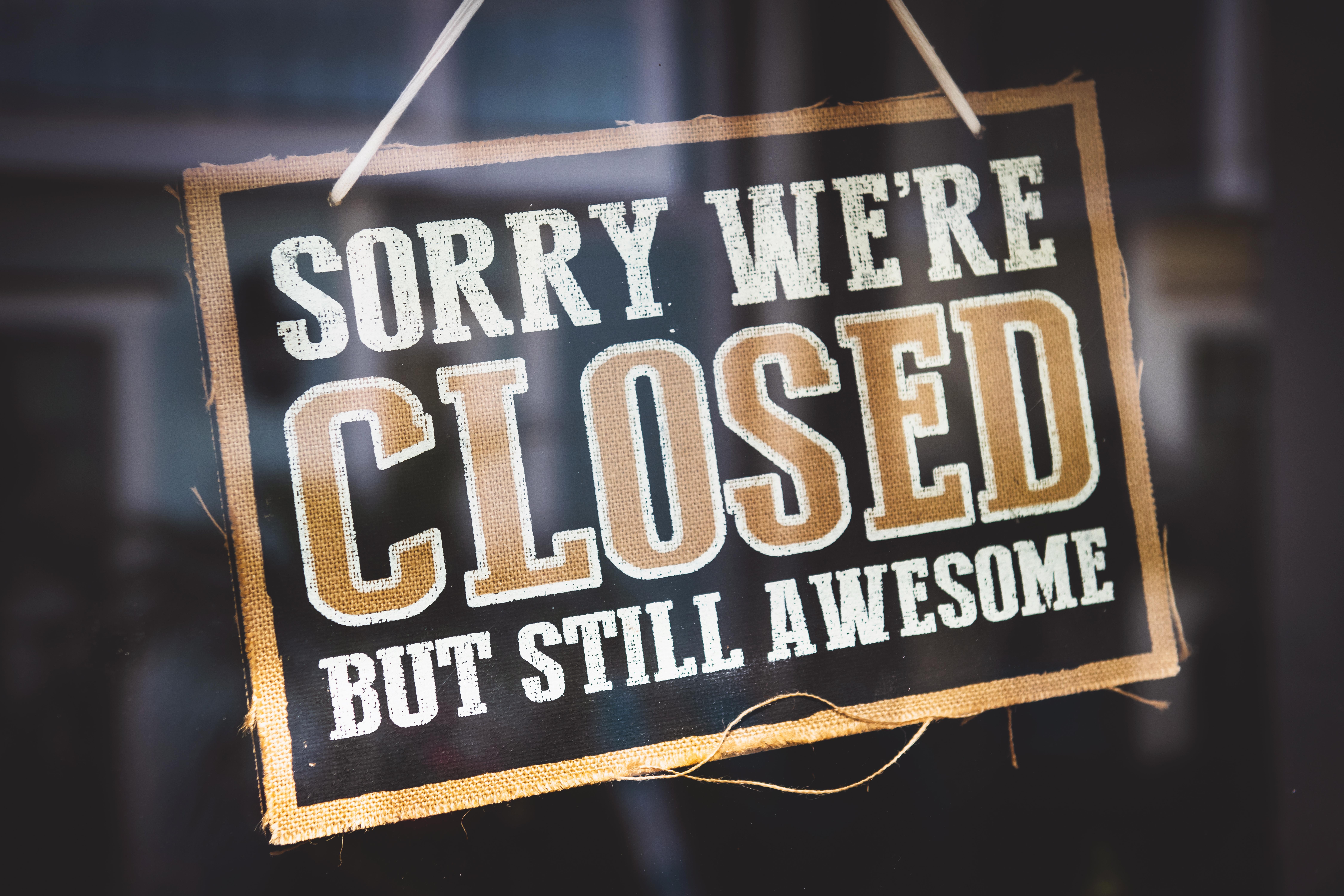 We Will Be Closed November 17, 2018