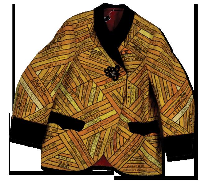 Cigar Silks jacket, made by Anna Eliza Cooke, circa 1880-1890, IQSCM 2008.018.0001
