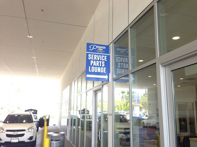 Auto dealership service lounge signs Orange County