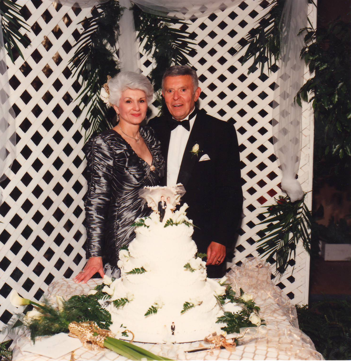 Becky and Jack Benaroya celebrating their 50th wedding anniversary, 1992.