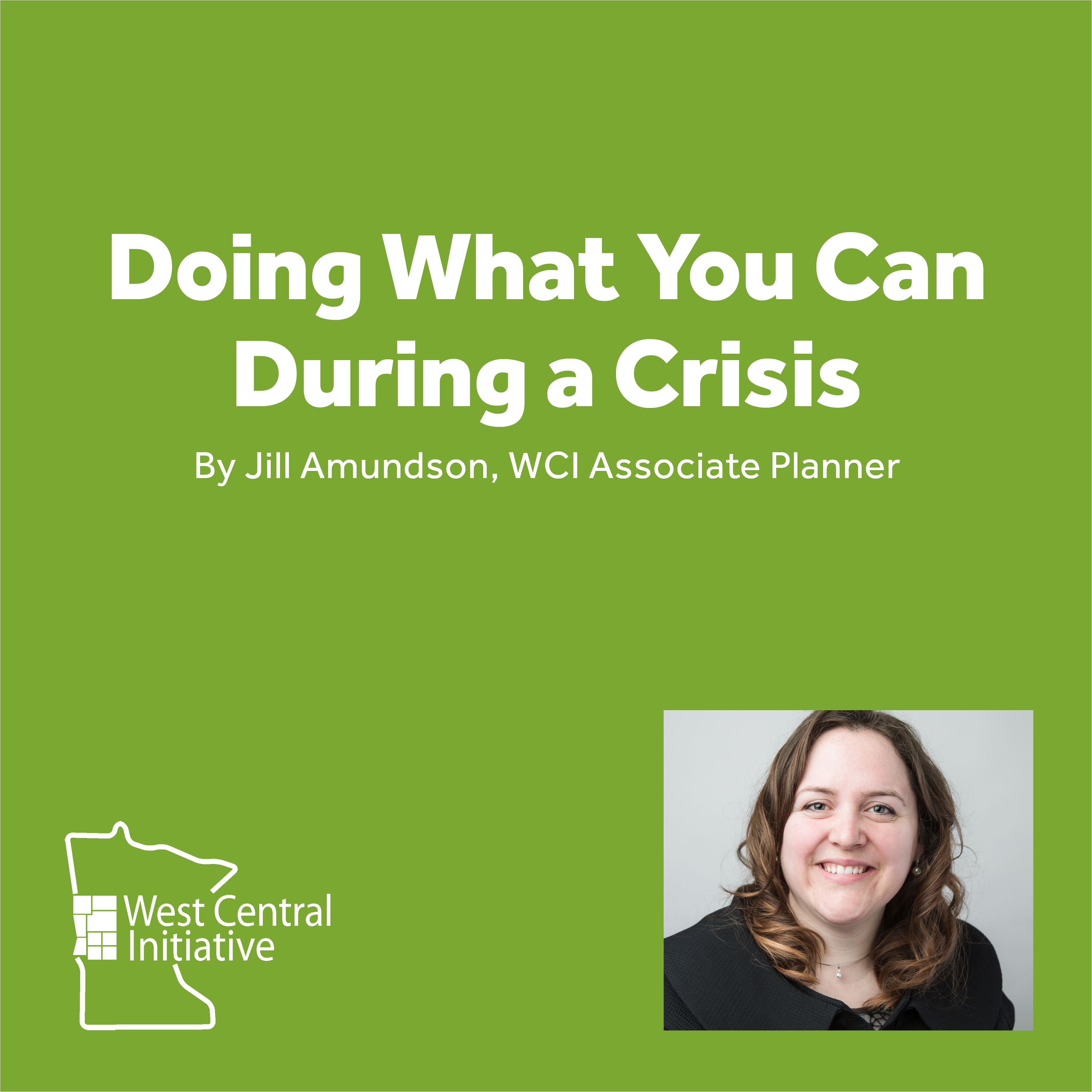 Doing What You Can During a Crisis