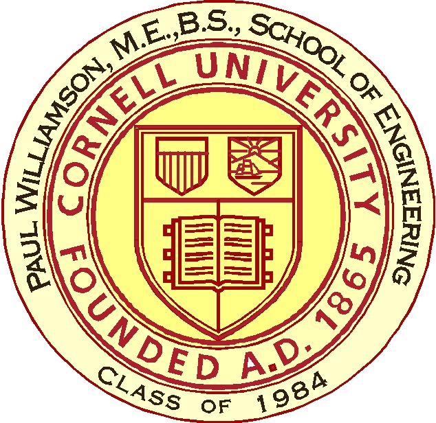 Y34332 - Carved 2.5 D (Outline) HDU Great Seal of Cornell University