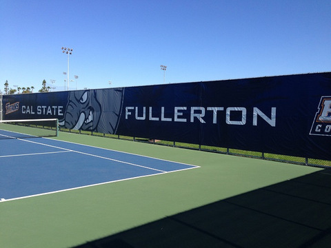 Vinyl wall wraps for tennis courts in Orange County