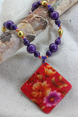 Trisha Waldron - Floral Shell Necklace