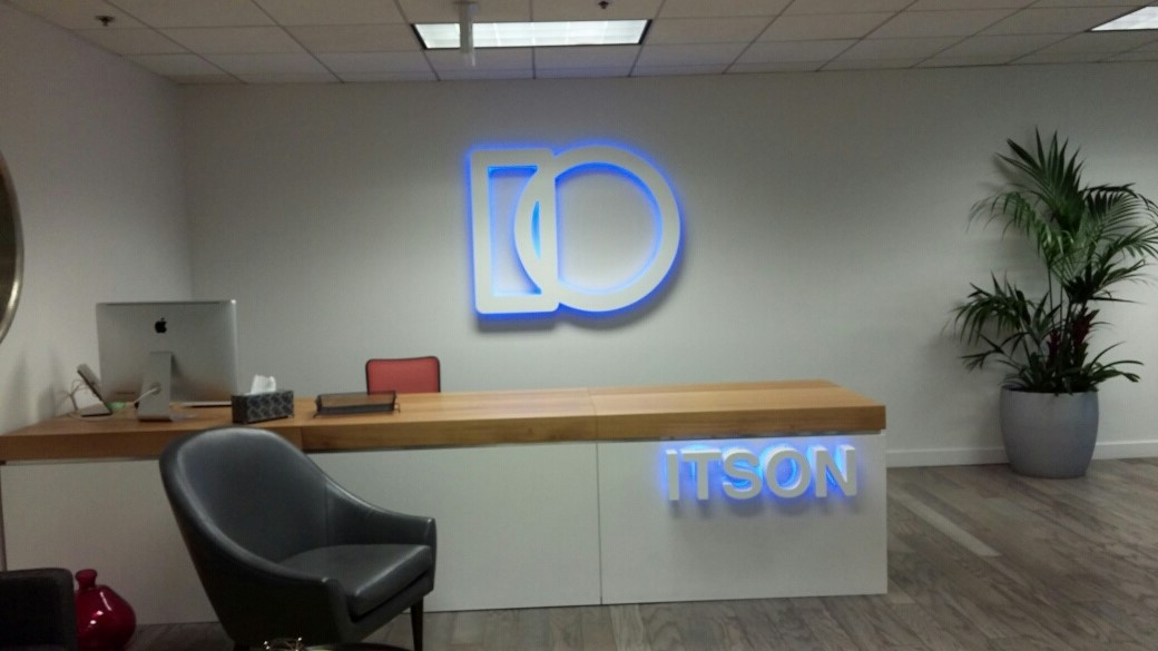 ItsOn Illuminated Lobby Sign