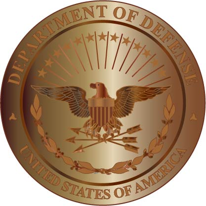 V31121 - Bronzed and Copper  DoD Great Seal Wall Plaque