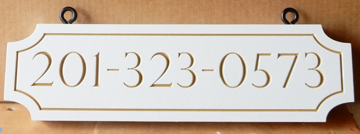 I18910 - Engraved HDU House Number Sign