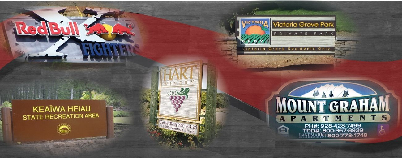 Product Line 5 - Examples of Large Wood and HDU  Signs
