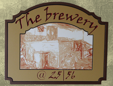 "RB27686 - ""The Brewery"" Engraved HDU Pub Sign"