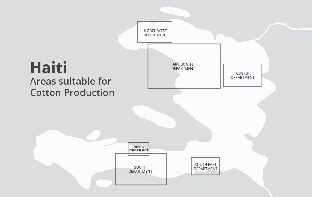 Haiti Cotton Production Map