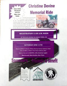 Christine Devine Memorial Ride to Benefit TSC and Wounded Warriors