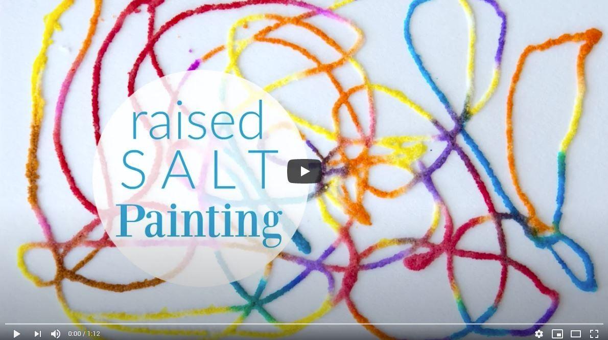 Raised Salt Painting