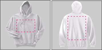 Hoodies Printable Areas