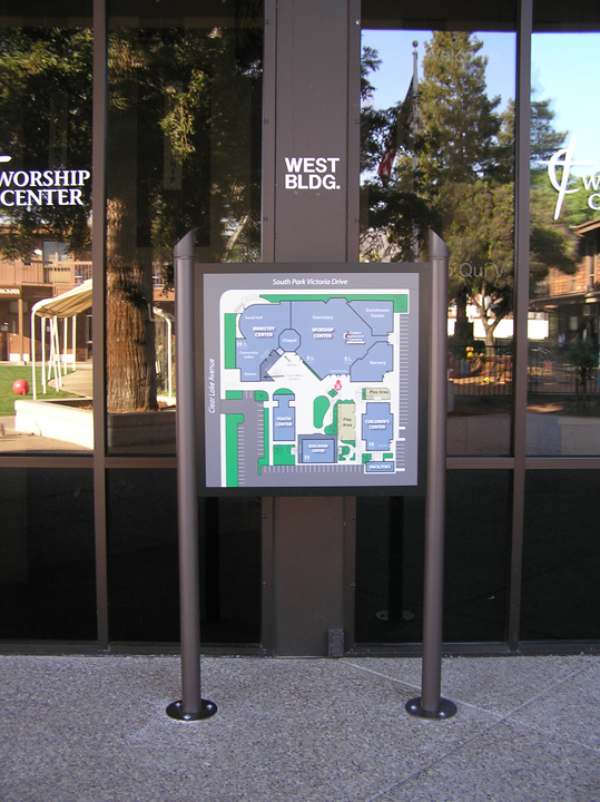 Post and Panel Surface Mounted Wayfinding