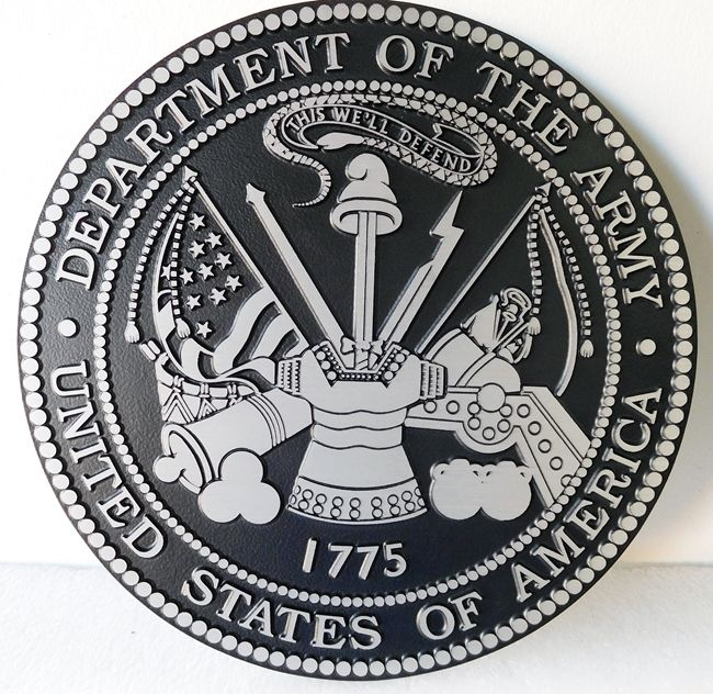 V31711 - 2.5-D Flat Relief Aluminum Wall Plaques of the US Army Seal