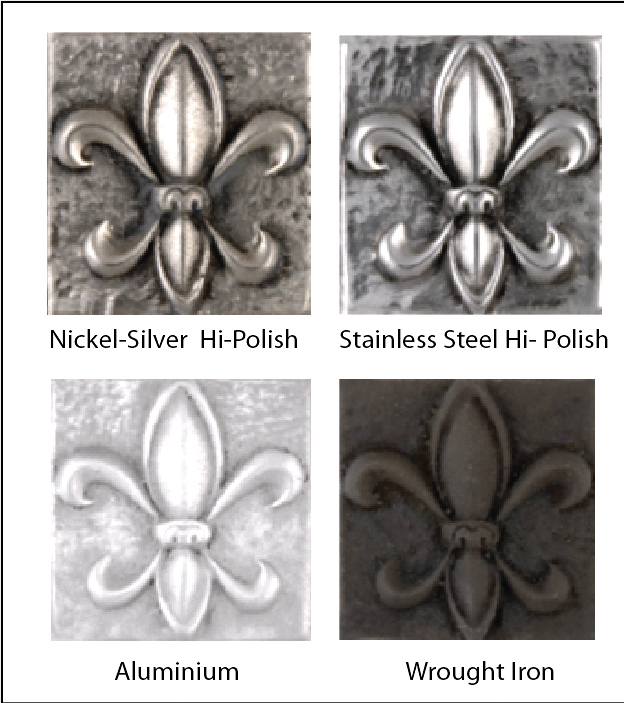 M7251- Color Variations of Silver, Steel, Iron, and  Aluminum Plaques