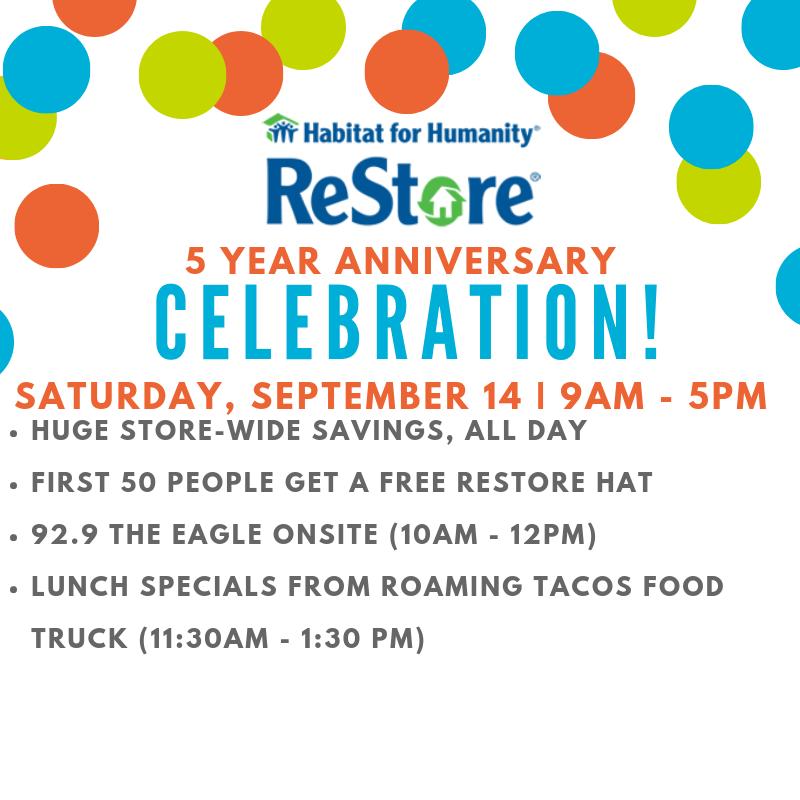 ReStore 5 Year Anniversary