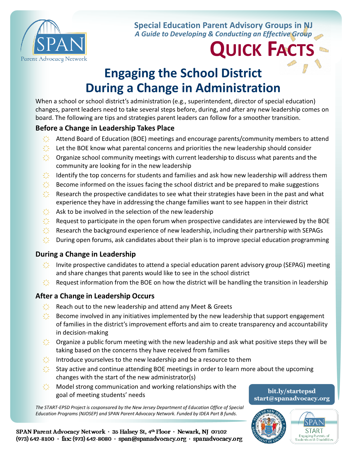 How SEPAGs Can Engaging the School District During a Change in Administration | Quick Guide