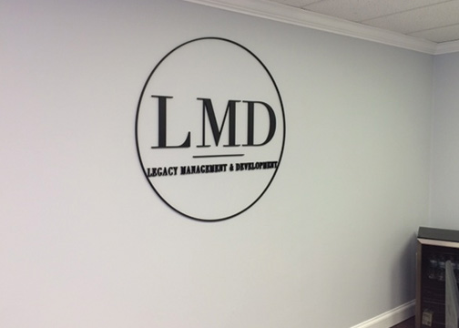 Legacy Management Dimensional Lettering 2