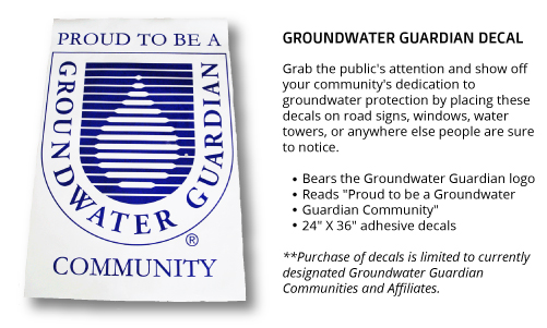 Groundwater Guardian Decal