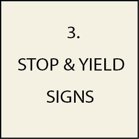 3. - H17160 -  Traffic, Stop, Yield, and  Slow Signs