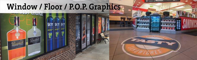 Window Floor P.O.P. Graphics