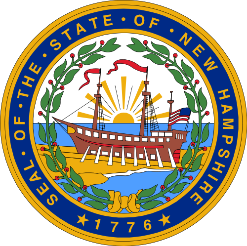 W32340 - Seal of the State of New Hampshire Wall Plaque