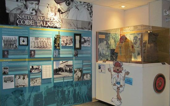 Main portion of NCM Native American Code Talker exhibit