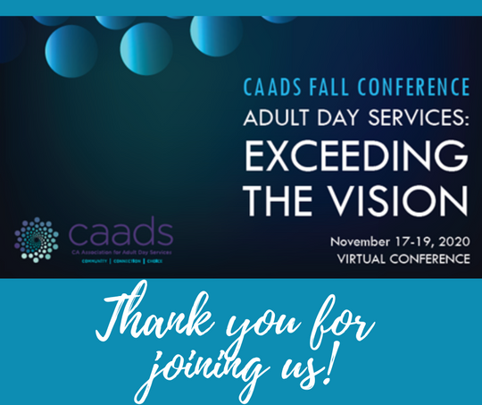 CAADS 2020 Virtual Fall Conference