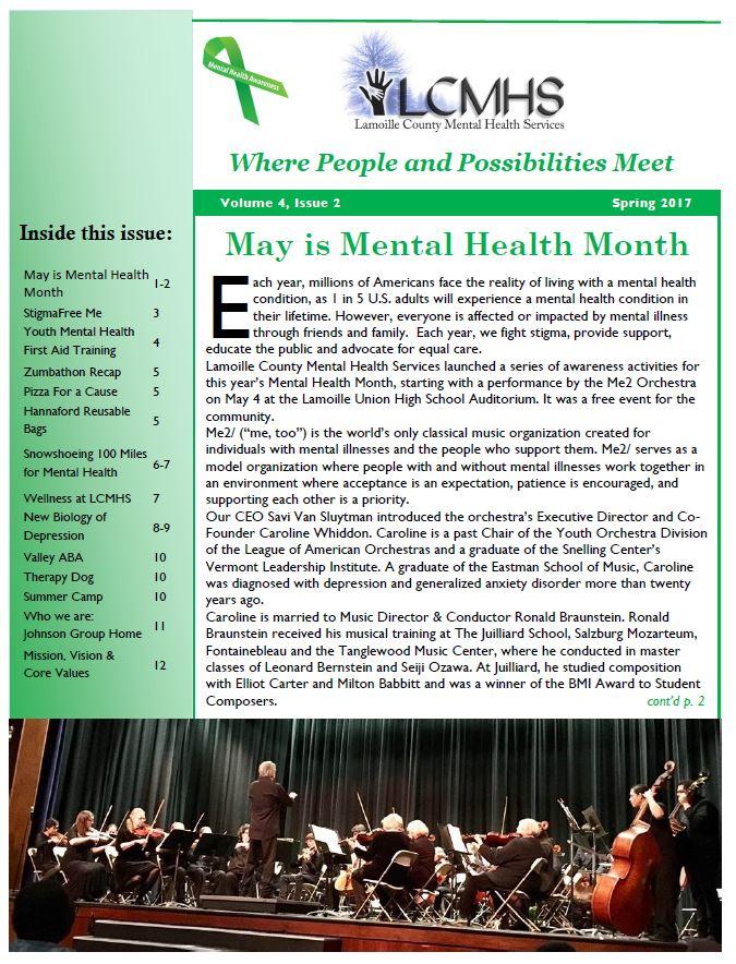 2017 Spring Newsletter