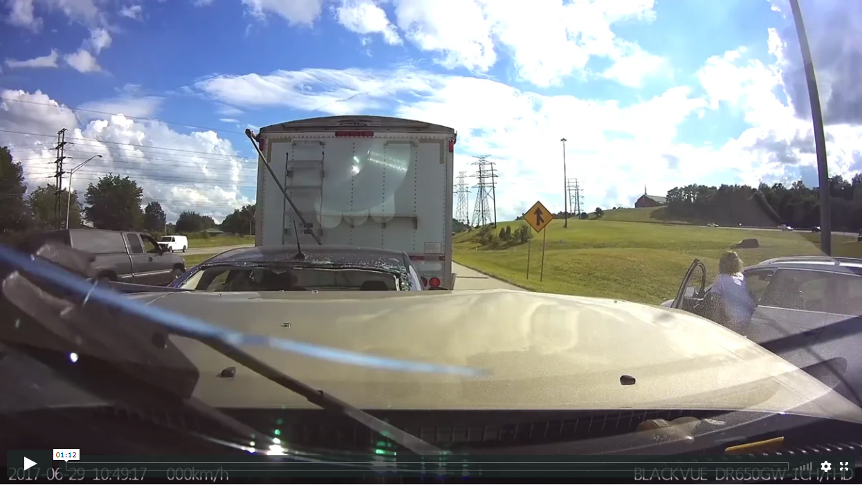 Distracted Driver Slams Into Stopped Traffic at 60 MPH