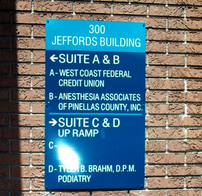 Wall Directional Sign