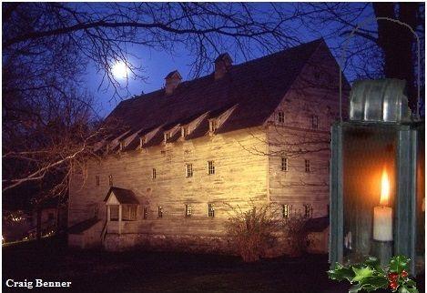 Lantern Tours explore Ephrata Cloister at Night