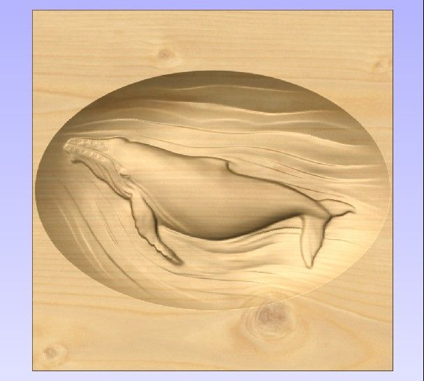 M3984 - Carved Maple California Gray Whale