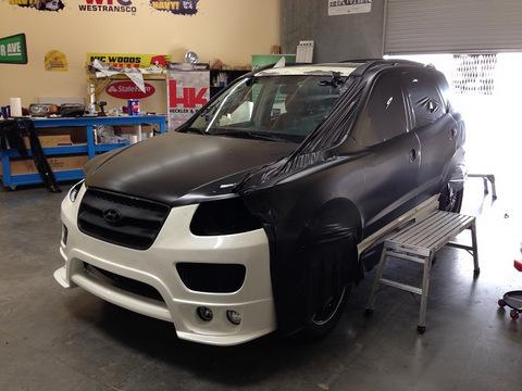Black matte vehicle wraps Orange County