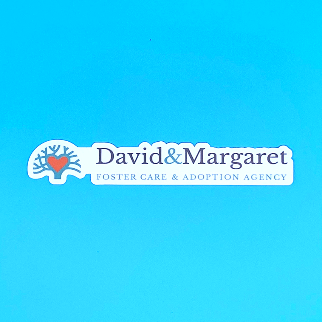 David and Margaret Foster Care and Adoption Agency Vinyl Sticker
