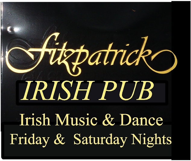 Y27642 - Upscale Engraved Black and Gold Irish Pub Sign