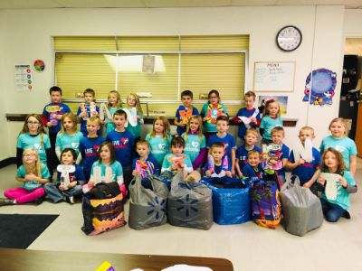 Norfolk's Christ Lutheran First Grade Bless Others with Hygiene Kits