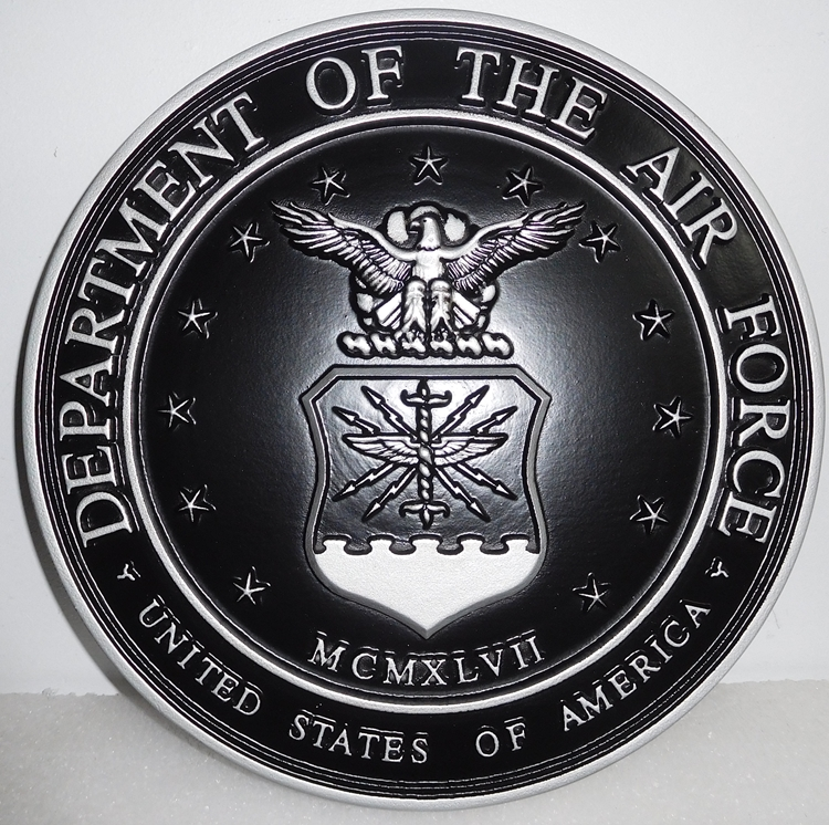 EA-5050 - Seal of the United States Air Force (USAF) Mounted on Sintra Board
