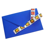 colored envelope, envelope, paper