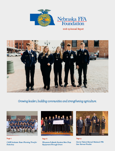 Nebraska Ffa Foundation Annual Report