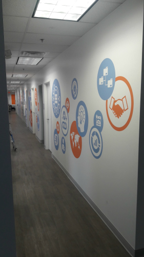 Contour Cut PhotoTex Hallway Graphics